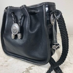 Sold! Brighton Black Leather Crossbody